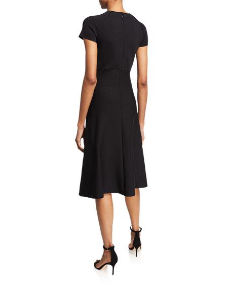 Giorgio Armani Short-Sleeve Knitted Dress