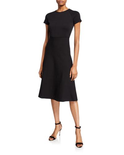 Short-Sleeve Knitted Dress