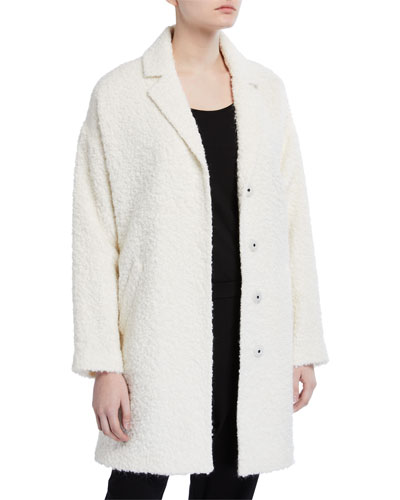 Oversized Curly Alpaca Coat
