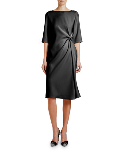 Knotted Techno Cady 1/2-Sleeve Dress