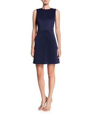 MICHAEL Michael Kors Sleeveless Scuba Hardware Mini Dress