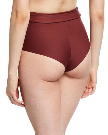 Eberjey Nina High-Waist Cheeky Bikini Bottom