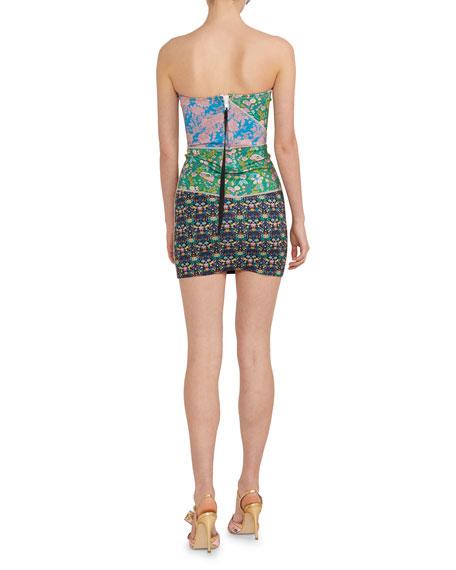 Cynthia Rowley Devon Patchwork Strapless Neoprene Dress