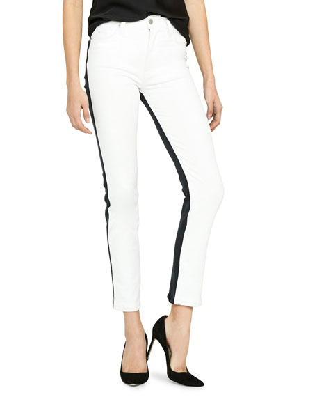 Hudson Barbara Two-Tone Ankle Skinny Jeans