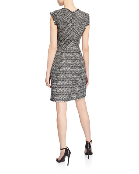 Image 2 of 2: Rebecca Taylor Sleeveless Tweed Dress
