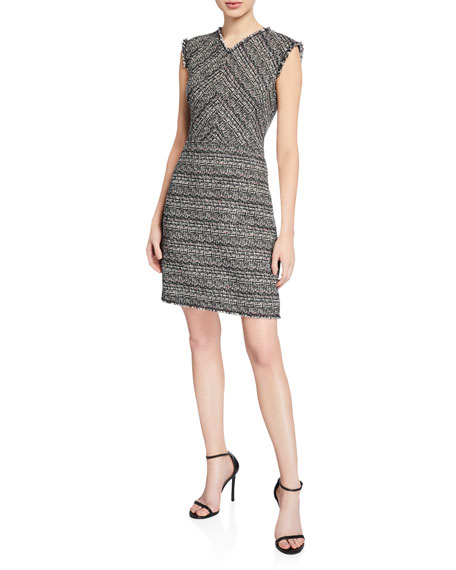 Image 1 of 2: Rebecca Taylor Sleeveless Tweed Dress