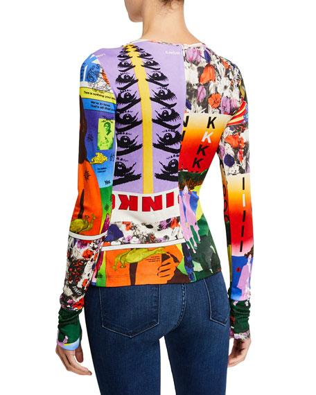 PINKO Pop Art Print Long-Sleeve Top