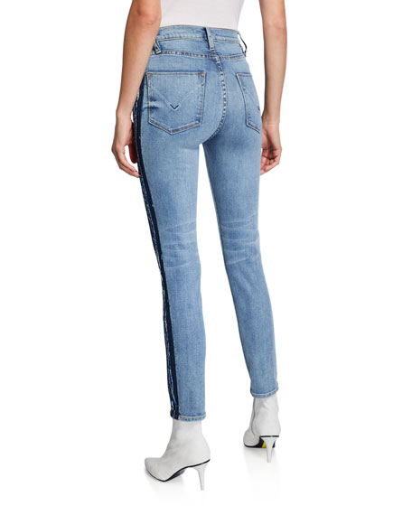 Image 2 of 3: Hudson Barbara High-Rise Skinny Jeans with Side Seam Detail