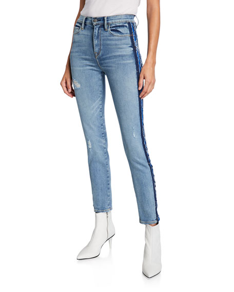 Image 1 of 3: Hudson Barbara High-Rise Skinny Jeans with Side Seam Detail