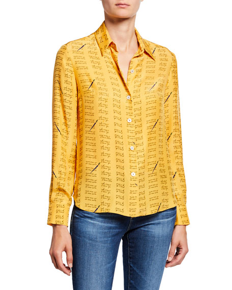 HVN Cristina Button-Down Blouse