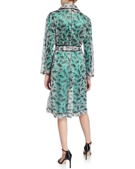 HVN Jen Leopard-Print Trench Raincoat