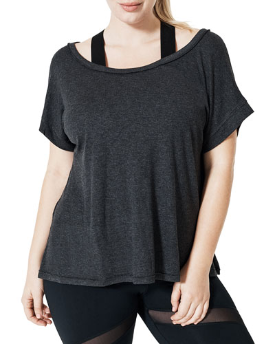 Plus Size Curv Serenity Split-Back Tee