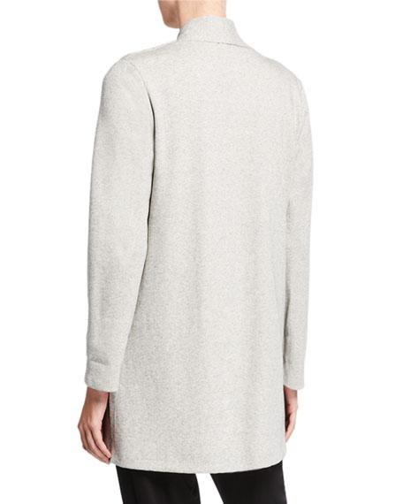 Eileen Fisher Petite Herringbone Jacket with Side Slit