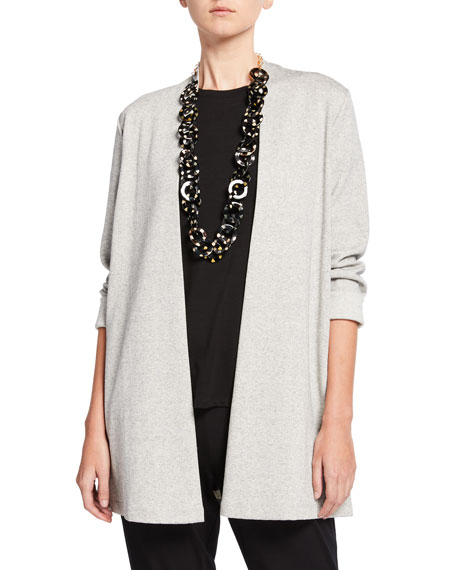 Eileen Fisher Herringbone Jacket with Side Slit