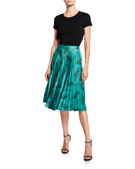 HVN Tracy Pleated Skirt