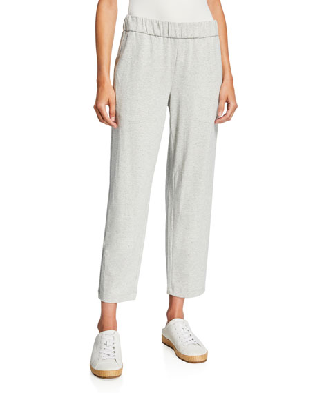 Eileen Fisher Plus Size Speckle Knit Tapered Ankle Pants