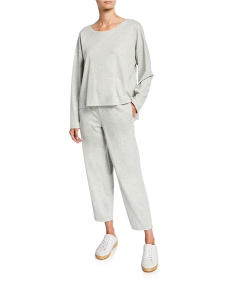 Eileen Fisher Speckle Knit Tapered Ankle Pants