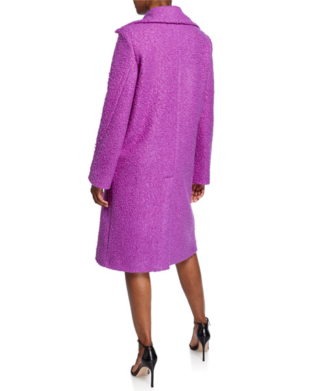 PINKO Two-Button Knit Overcoat