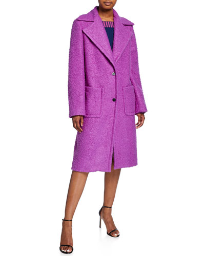 Two-Button Knit Overcoat