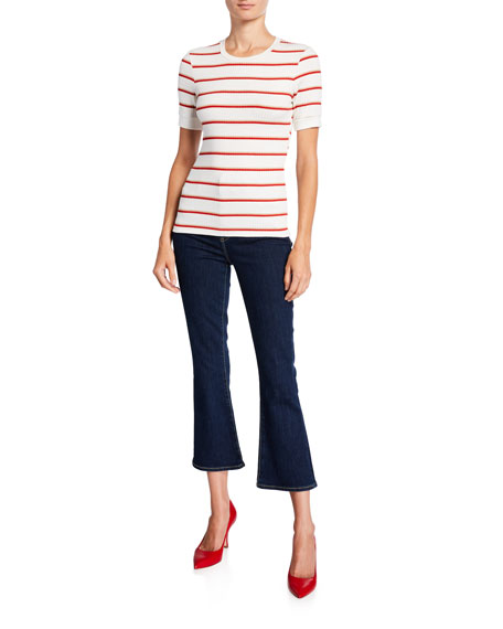 7 For All Mankind High-Waist Slim Kick Flare Jeans