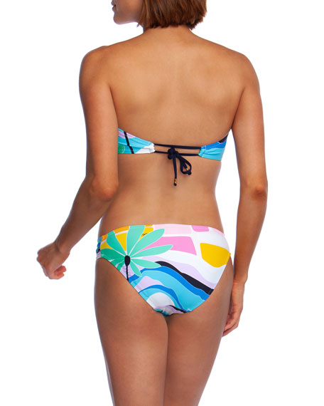 Trina Turk Mosaic Sunrise Molded Bandeau Bikini Top