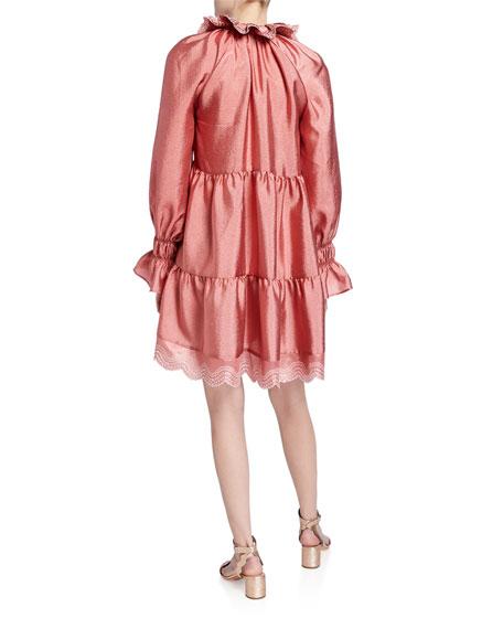 Stine Goya Daki Tiered Long-Sleeve Shift Dress