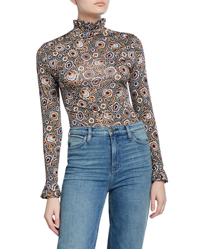 Manila Printed Long-Sleeve Top