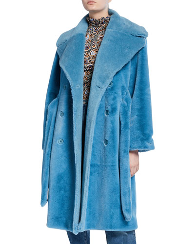 Happy Faux-Fur Long Coat