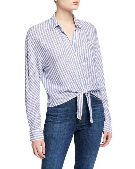 Rails Rylan Striped Tie-Front Shirt