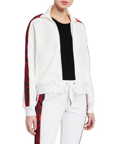 Ocelot-Stripe Track Jacket