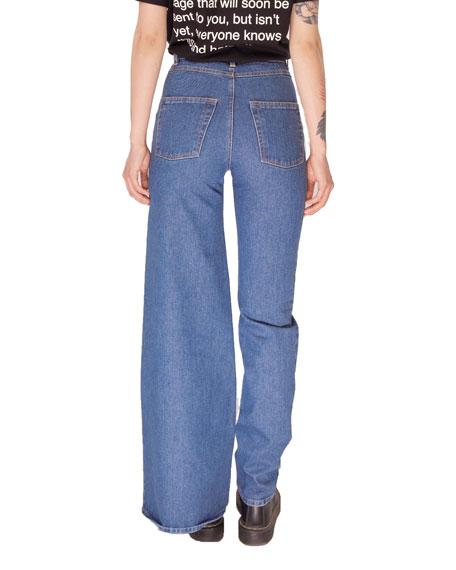 Ksenia Schnaider Asymmetric Skinny & Wide-Leg Jeans