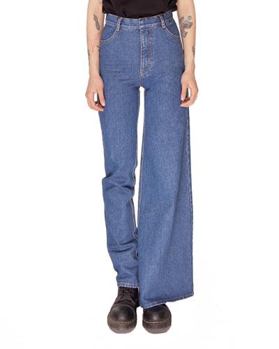 Asymmetric Skinny & Wide-Leg Jeans