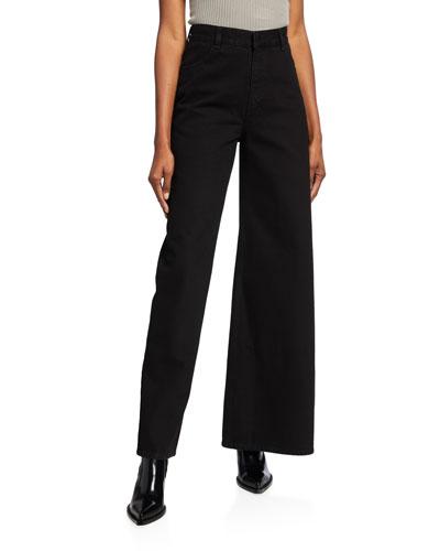 Asymmetric Skinny & Wide Jeans