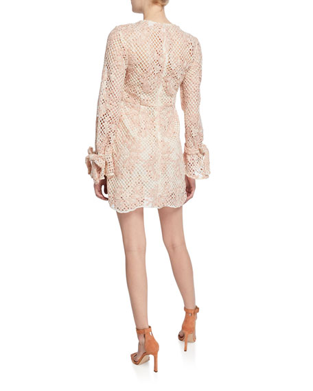 La Maison Talulah Elixir Long-Sleeve Mini Dress