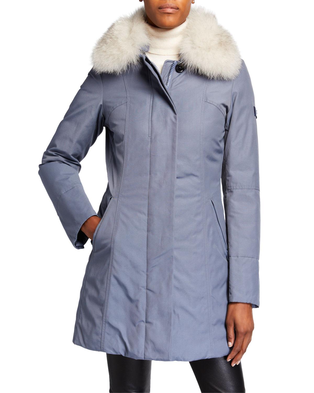 finest selection d9422 a0aad Metropolitan SA Parka Coat with Detachable Fur Collar
