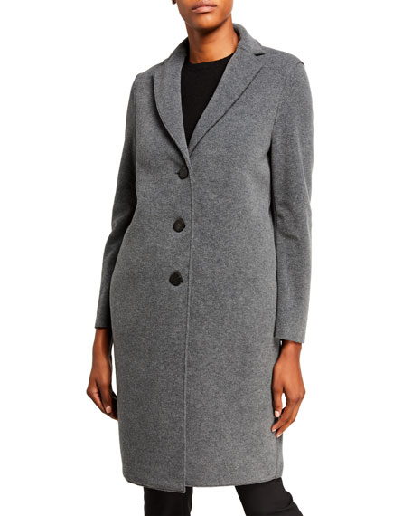Harris Wharf London Single-Breasted Polaire Overcoat