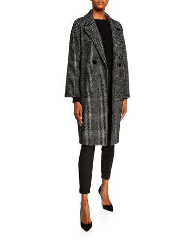 Dropped Shoulder Coat in Sparkly Prince Of Wales