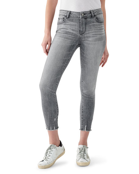 DL1961 Premium Denim Florence Cropped Mid-Rise Skinny Jeans