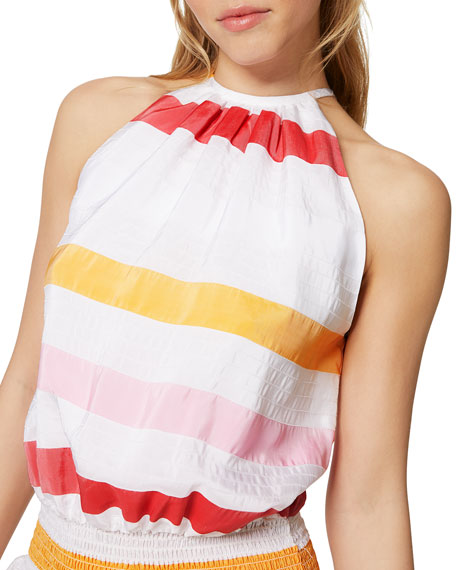 Ramy Brook Paris Sleeveless Striped Dress