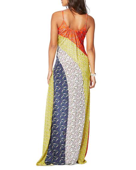 Ramy Brook Wesley Printed Colorblock Maxi Dress