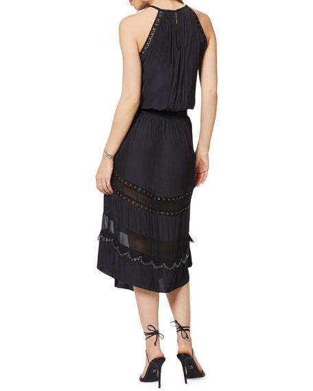 Ramy Brook Pierson Sleeveless Grommet Midi Dress