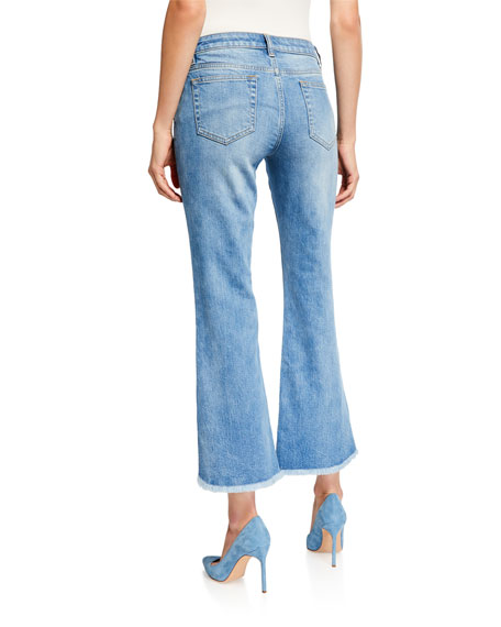 MICHAEL Michael Kors Cropped Denim Flare Jeans