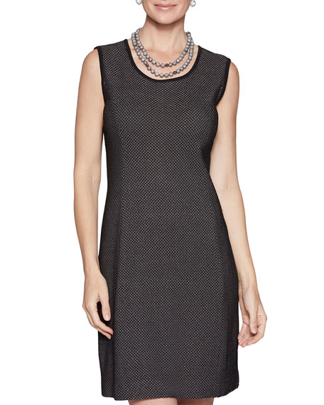 Misook Honeycomb Patterned Sleeveless Dress