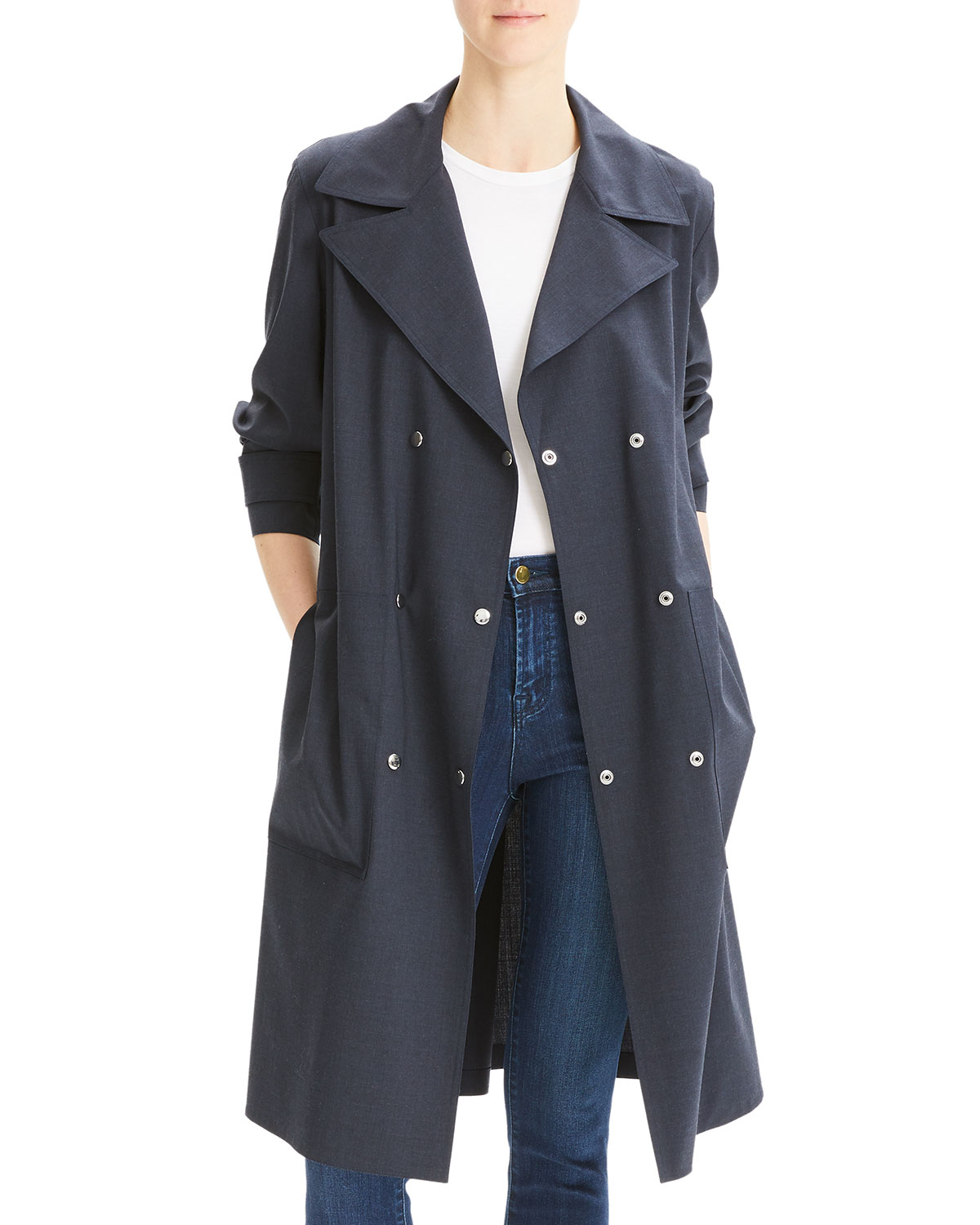Theory Womens Military Trench