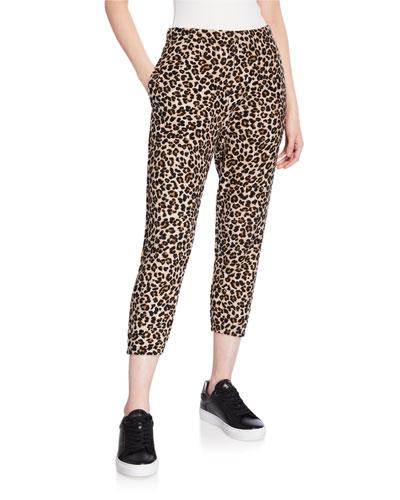 Bristol Leopard-Print  Jogger Pants