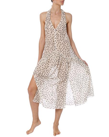 Stella McCartney Polka Dot Halter Coverup Dress