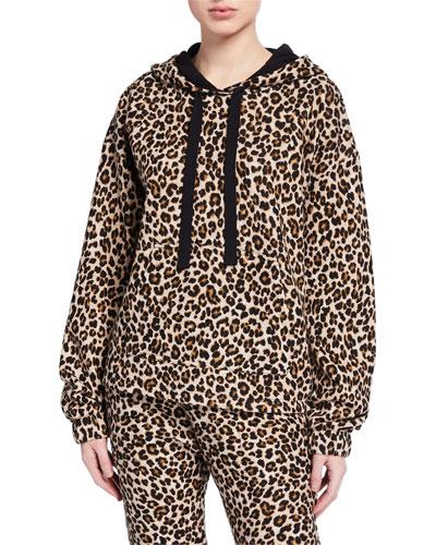 Kassidy Leopard-Print  Hoodie Sweatshirt