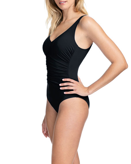 Profile by Gottex Tutti Frutti Gathered One-Piece Swimsuit with Underwire