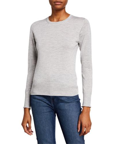 Crewneck Super Fine Wool-Blend Sweater