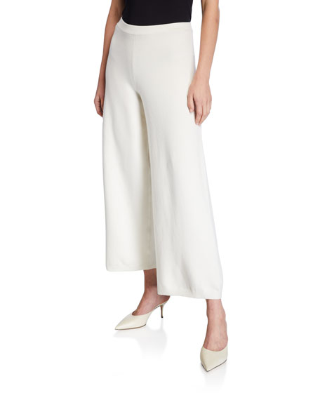 Joan Vass Wide-Leg Ankle Pants